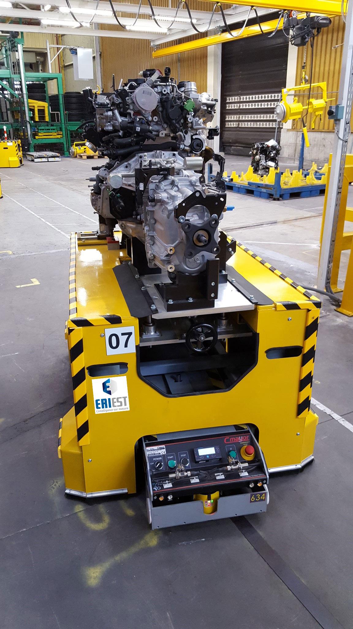 Chariot interface moteur-boîte de vitesses