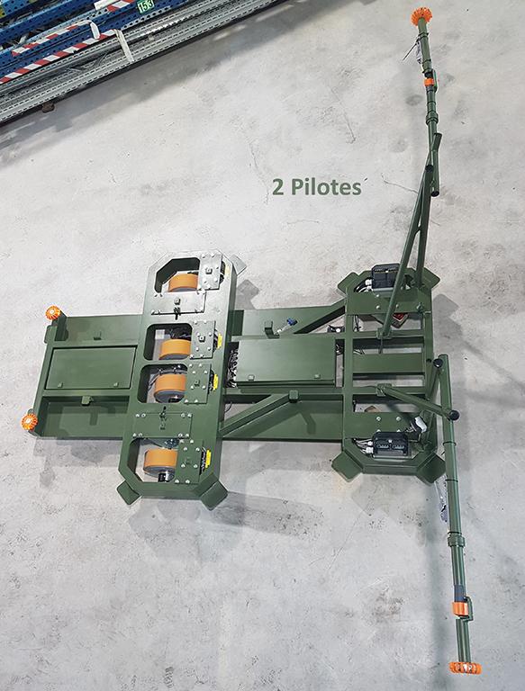 machine spéciale; roues autonomes; logistique; chariot; char; char pour parade